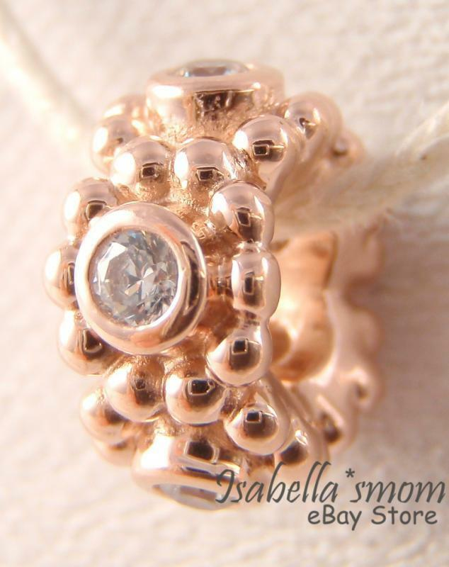 Her Majesty Authentic Pandora Rose Gold Plated Cz Stones
