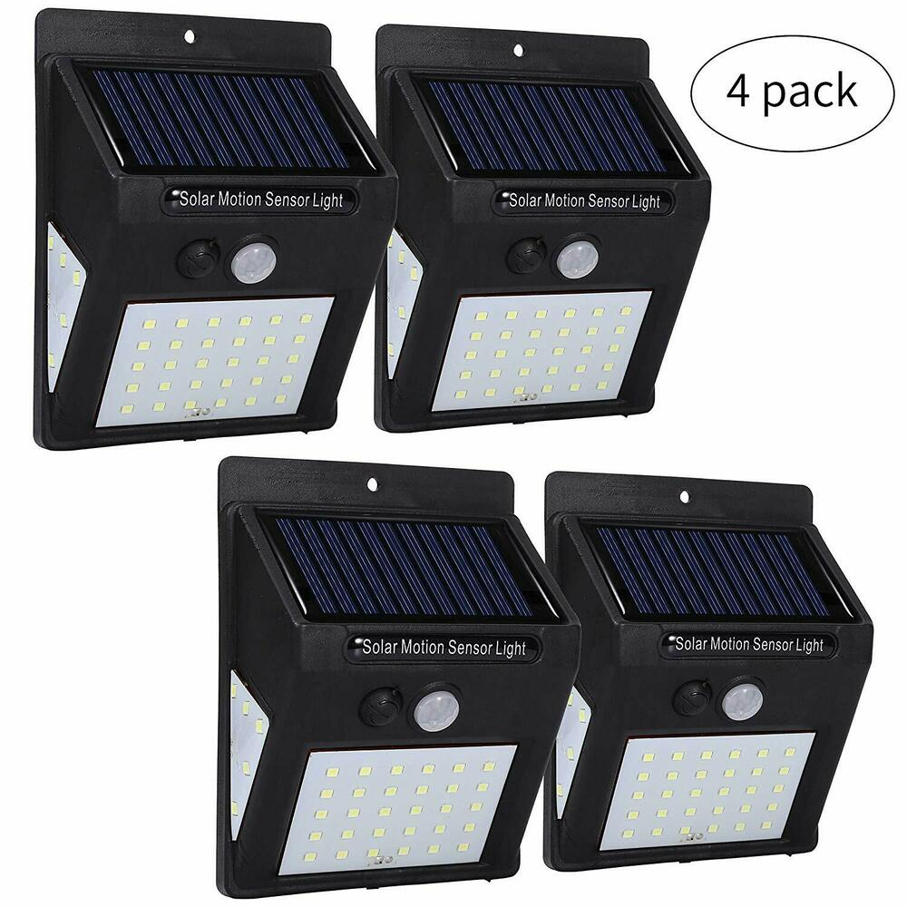 bright led solar powered outdoor security garden solar light easy fit lights ebay