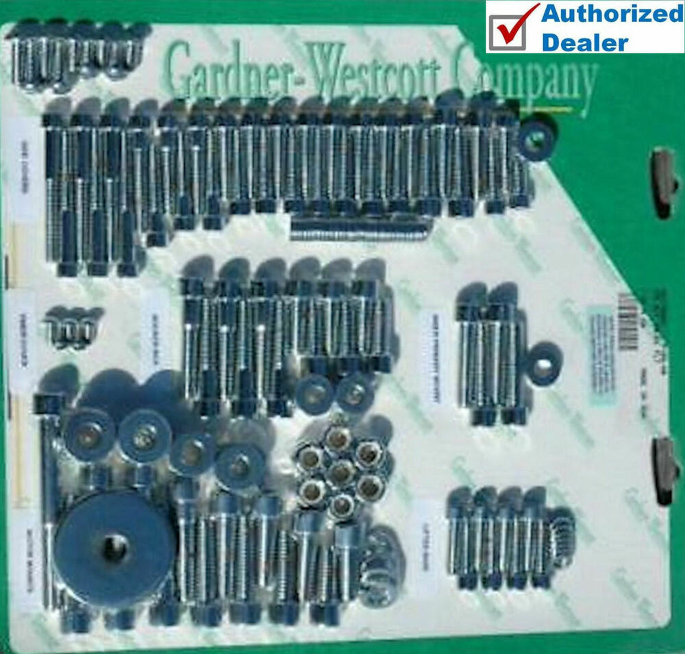 Garnder Westcott Chrome Allen Engine Hardware Bolts Dress
