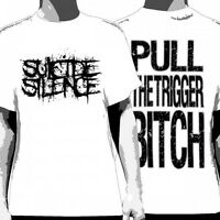 SUICIDE SILENCE - Pull The Trigger (White):T-shirt - NEW - SMALL ONLY