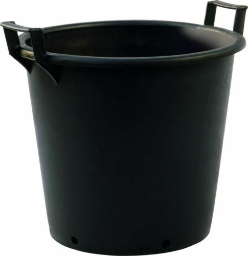 50 litre heavy duty black plastic plant pots tubs with handles ebay