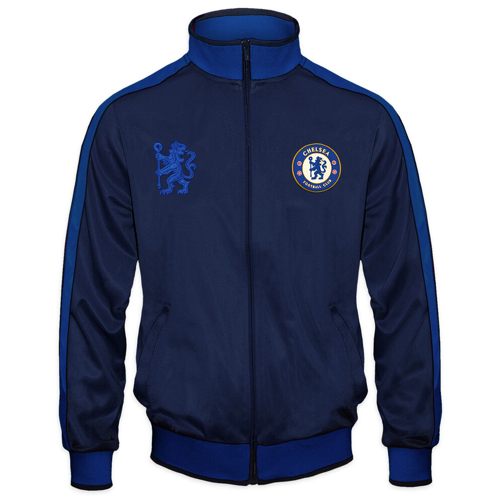Chelsea Fc Official Football Gift Mens Retro Track Top