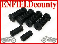 NEW ROYAL ENFIELD COMPLETE FOOTREST PEDAL RUBBER KIT