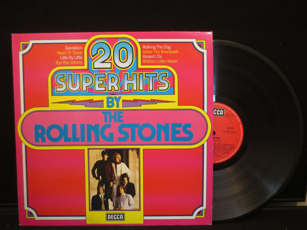 22c0b02f6bf 20 Super Hits By The Rolling Stones on Decca 6.23502 Stereo