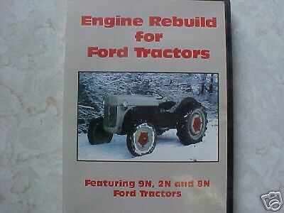 ford tractor engine rebuild guide dvd     ebay