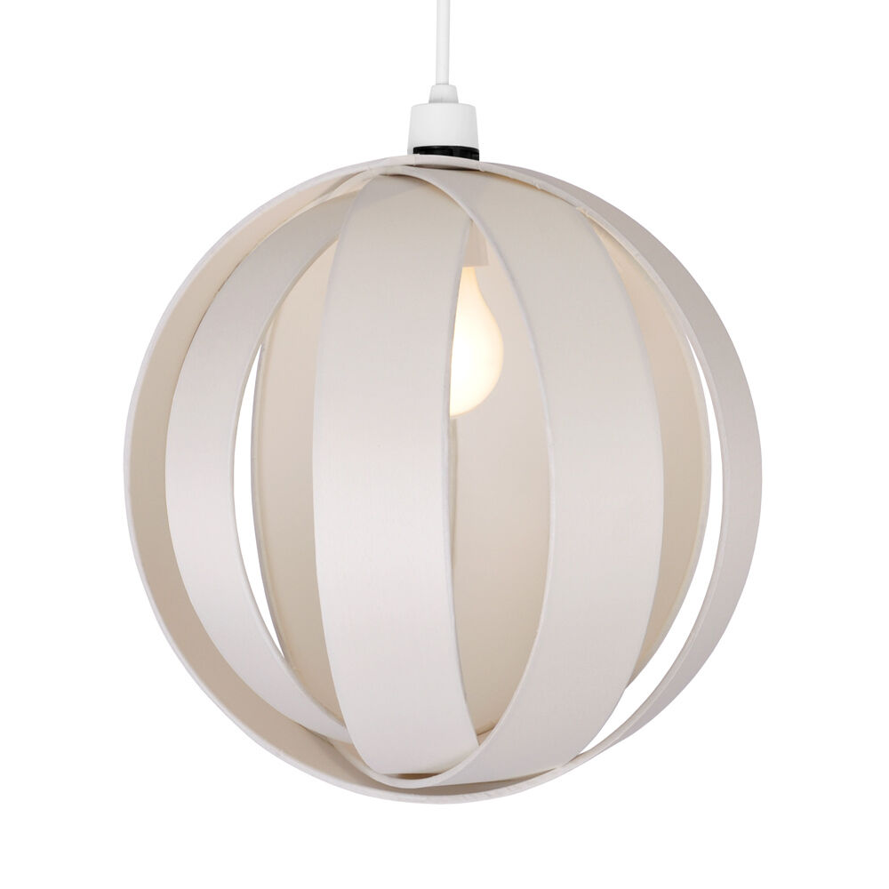 Lamp Shades For Ceiling Lights: Modern Ivory Cream Fabric Cocoon Ceiling Pendant Light