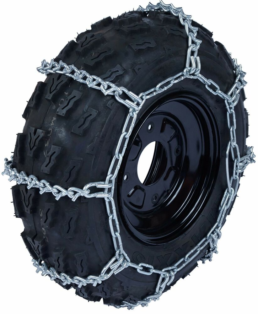 Atv Tire Chains : Quality chain atv c mm v bar link tire chains snow ice