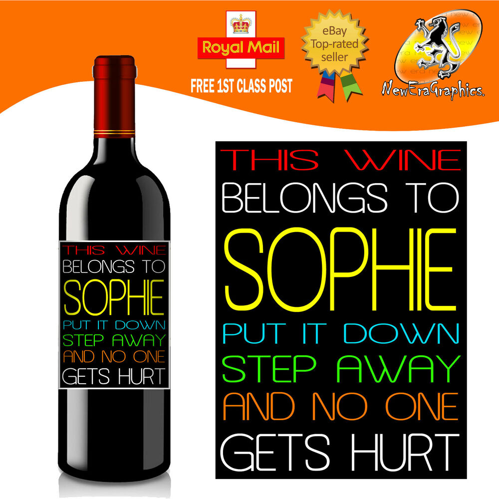 Personalised Keep Calm And Drink Wine Bottle Label Labels: PERSONALISED FUNNY WINE BOTTLE LABEL BIRTHDAY CHRISTMAS
