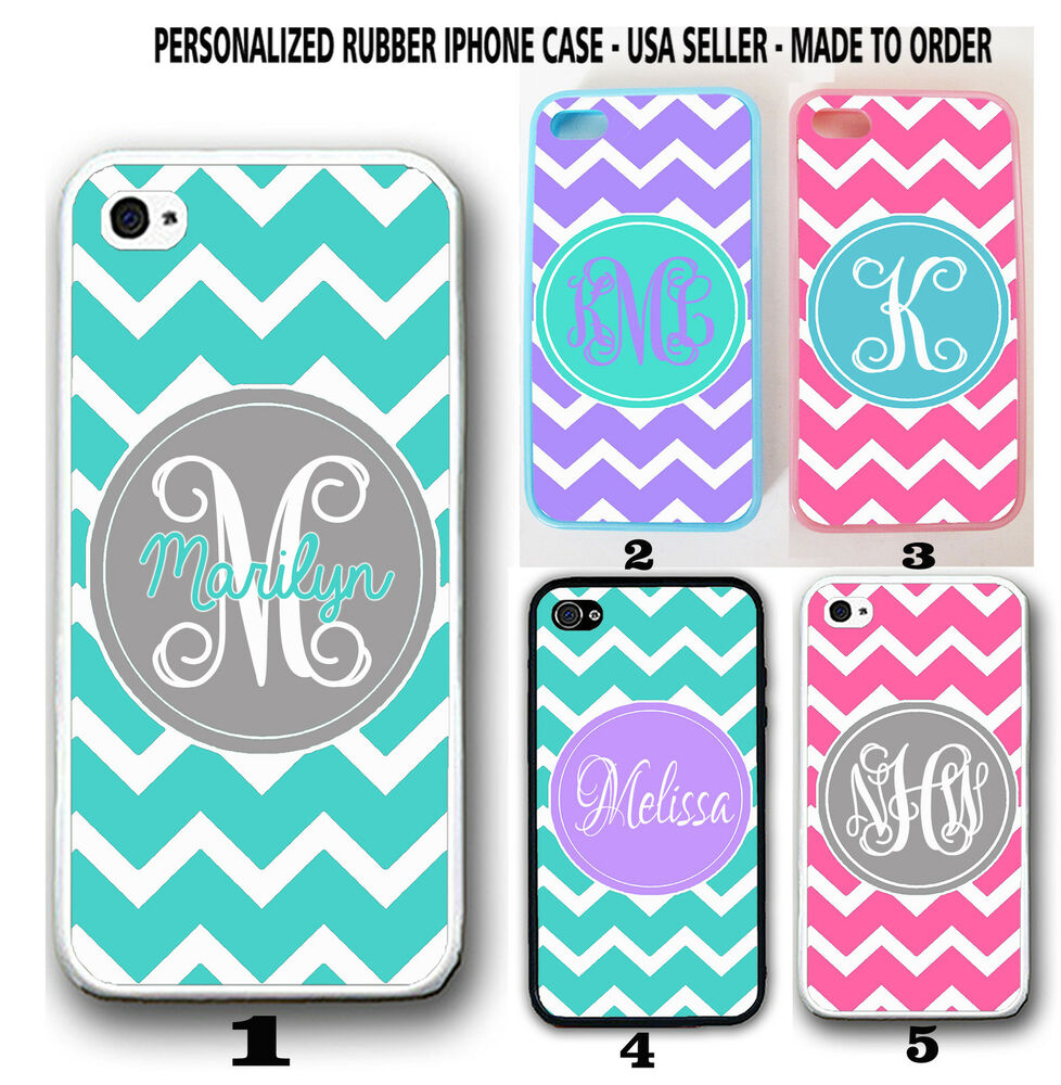 personalized iphone cases custom personalized teal pink purple chevron monogram 12769