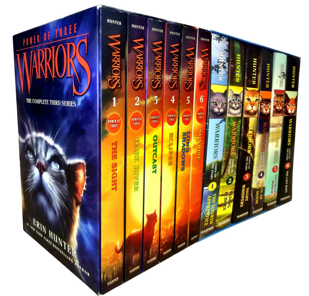 Warrior Cats Collection Erin Hunter 12 Books Set Power Of