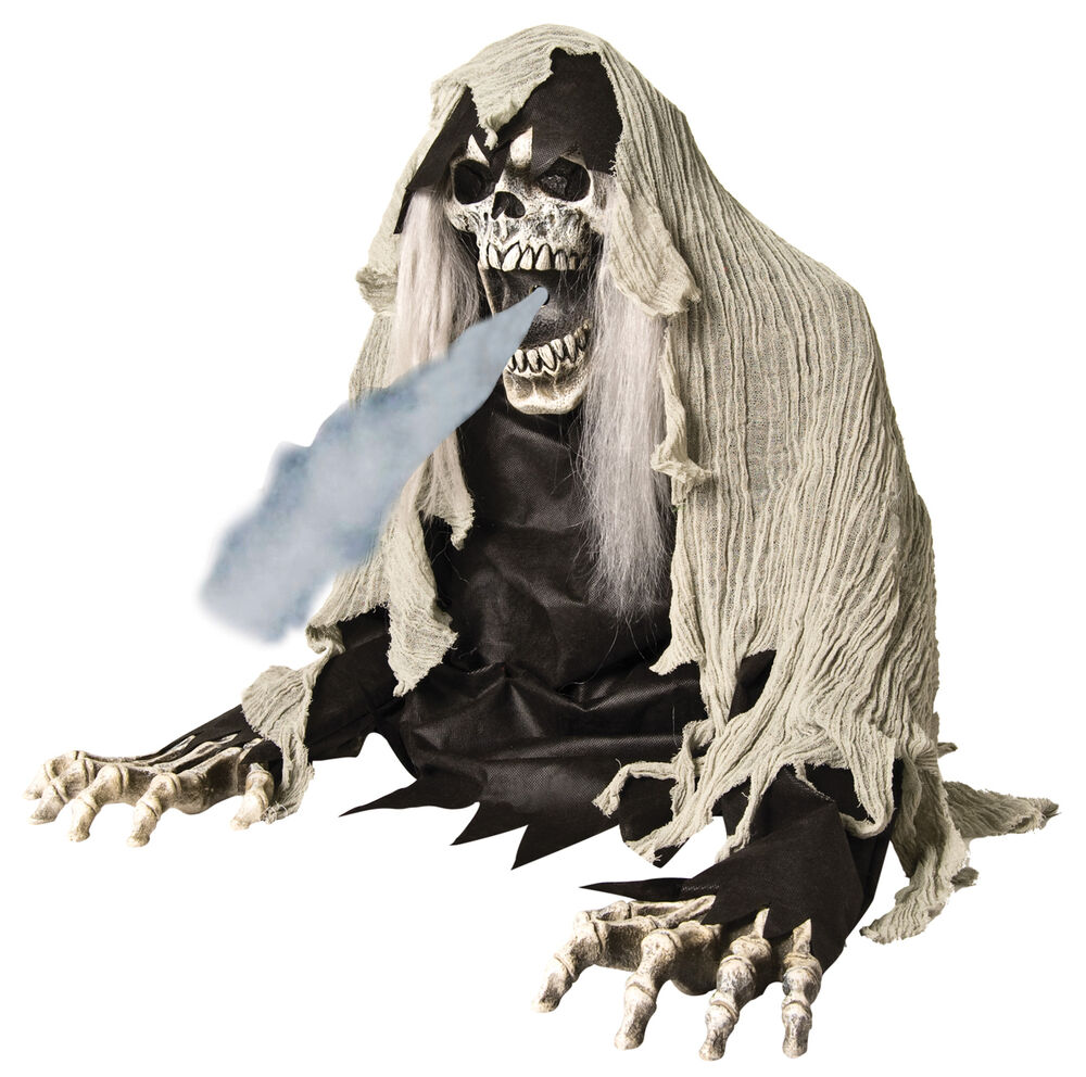 WRETCHED REAPER ANIMATED FOG PROP Haunted House Decor ...