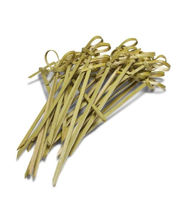 12cm bamboo knot skewers cocktail sticks ideal canape