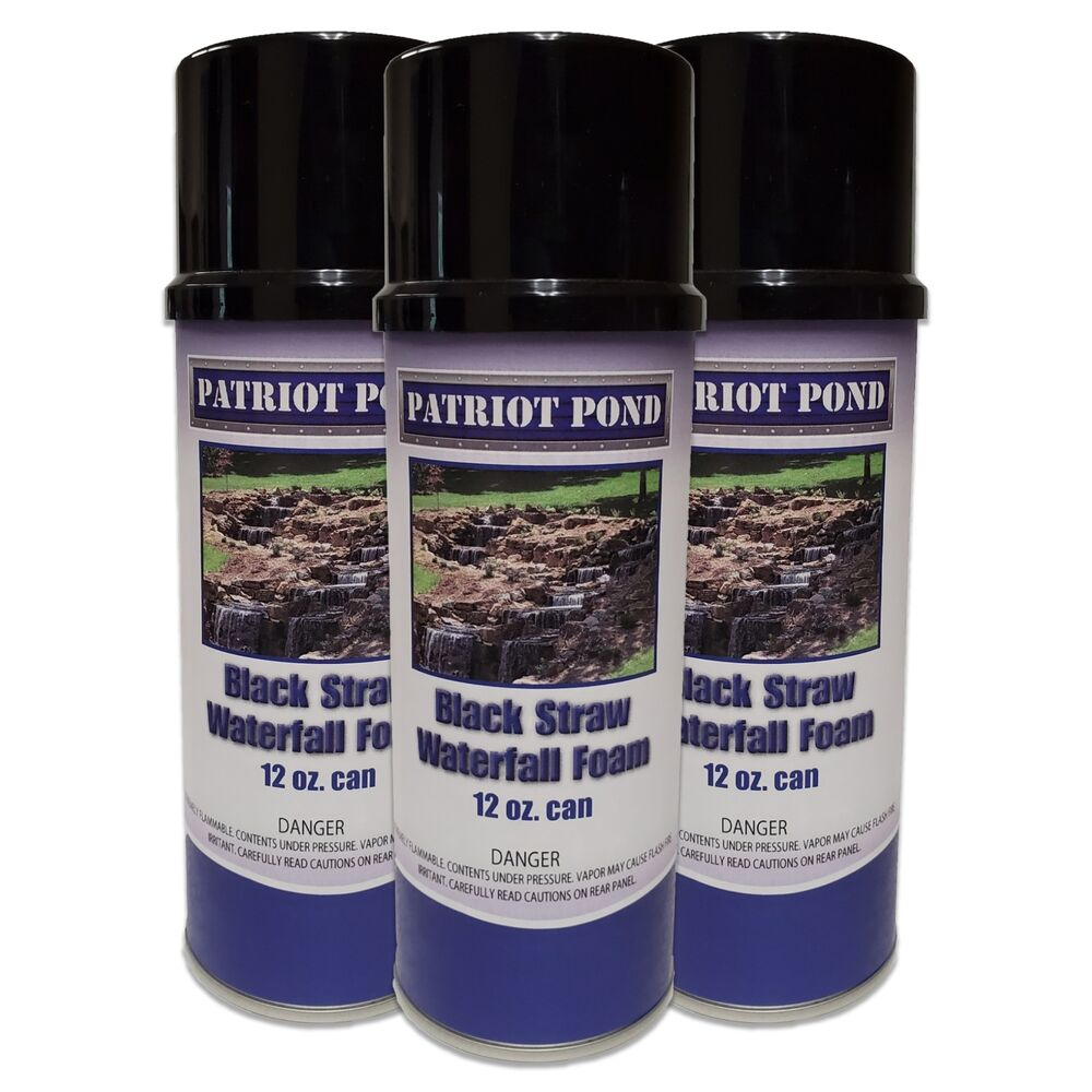 Waterfall foam for koi ponds 3 pack of 12oz cans ebay for Foam on fish pond