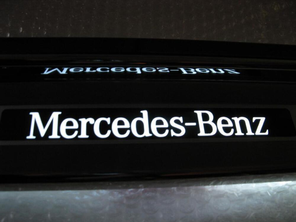 Mercedes slk 170 1997 2003 illuminated door sill plates for Mercedes benz text