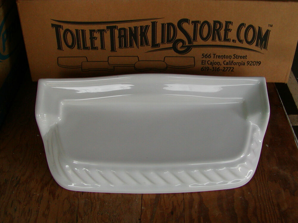 American Standard 6138 Toilet Tank Lid Tray Style White 5c