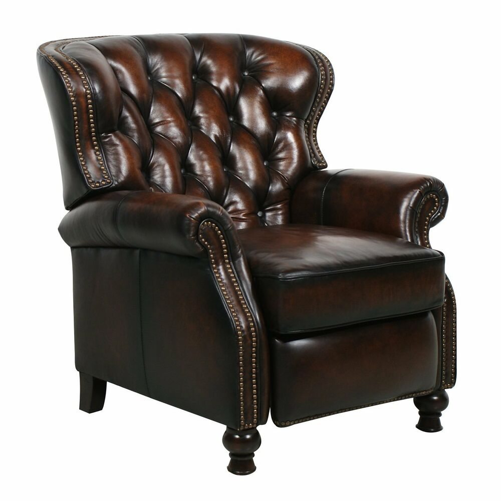 New Barcalounger Presidential Ii Genuine Leather Recliner