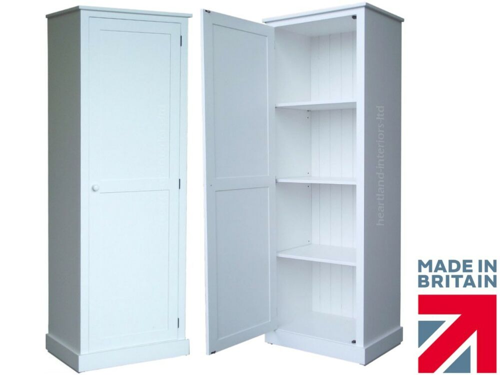 tall white cabinet solid wood cupboard 180cm white painted linen 27075