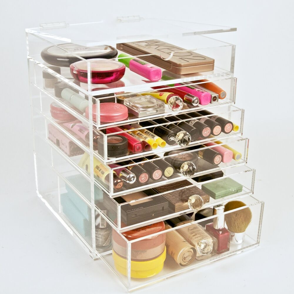 Clear Acrylic Makeup Organizer Cosmetics Storage Beauty