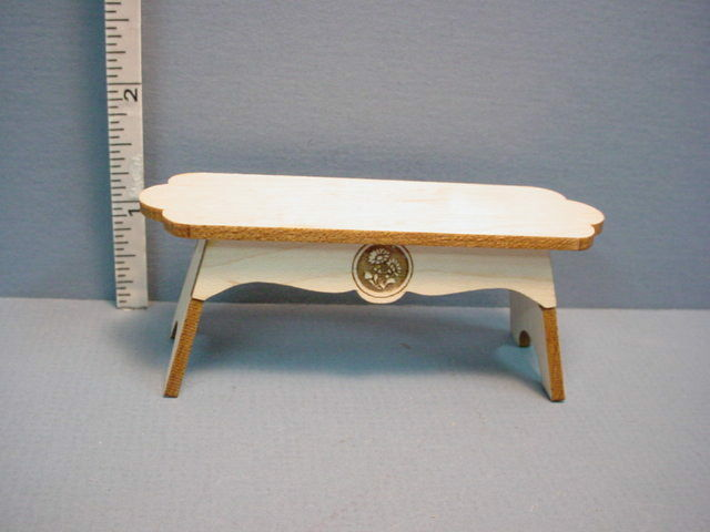Bench Fancy Wi Curved Ends Dollhouse Miniature Ebay