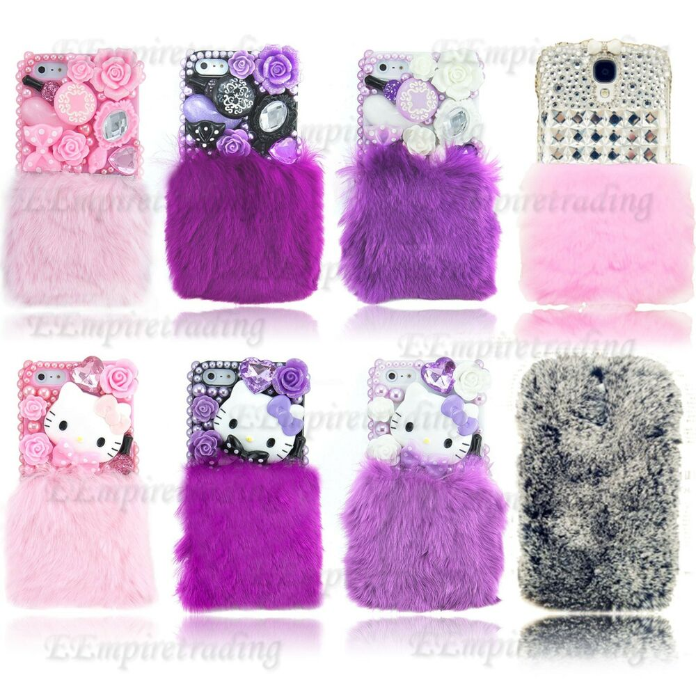 ... Fluffy Fur Case For iPhone 4 S 5 S 5C Galaxy S3 S4 Note 2 : eBay