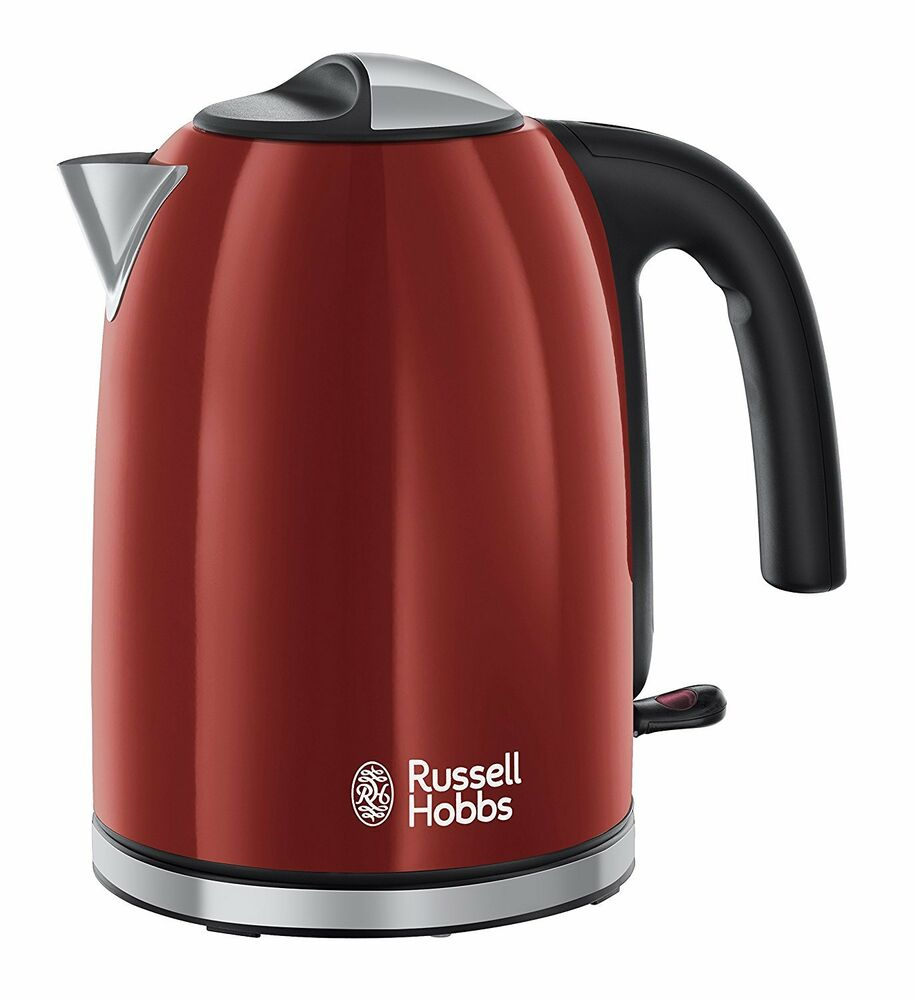 Russell Hobbs Electric Kettle ~ Russell hobbs red cordless electric kettle litres