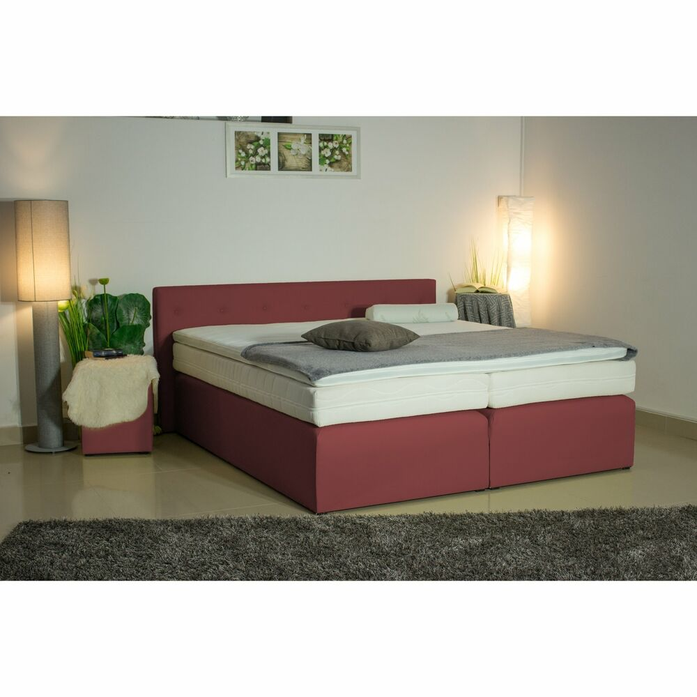 bett neu boxspringbett matratze h2 h3 h4 topper braun beige box 40gk 180x200 ebay. Black Bedroom Furniture Sets. Home Design Ideas