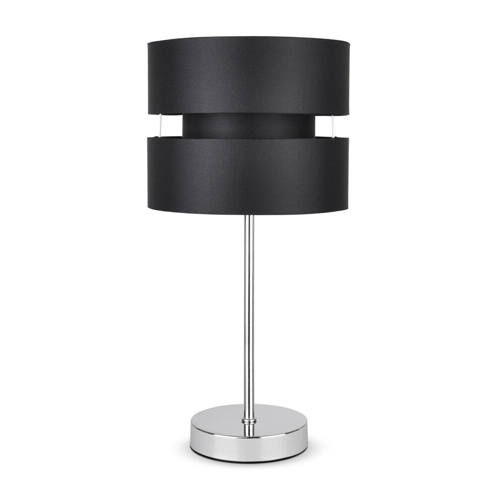 Modern Chrome Black Touch Dimmer Lounge Bedside Table Lamp Lights Lamps Ebay