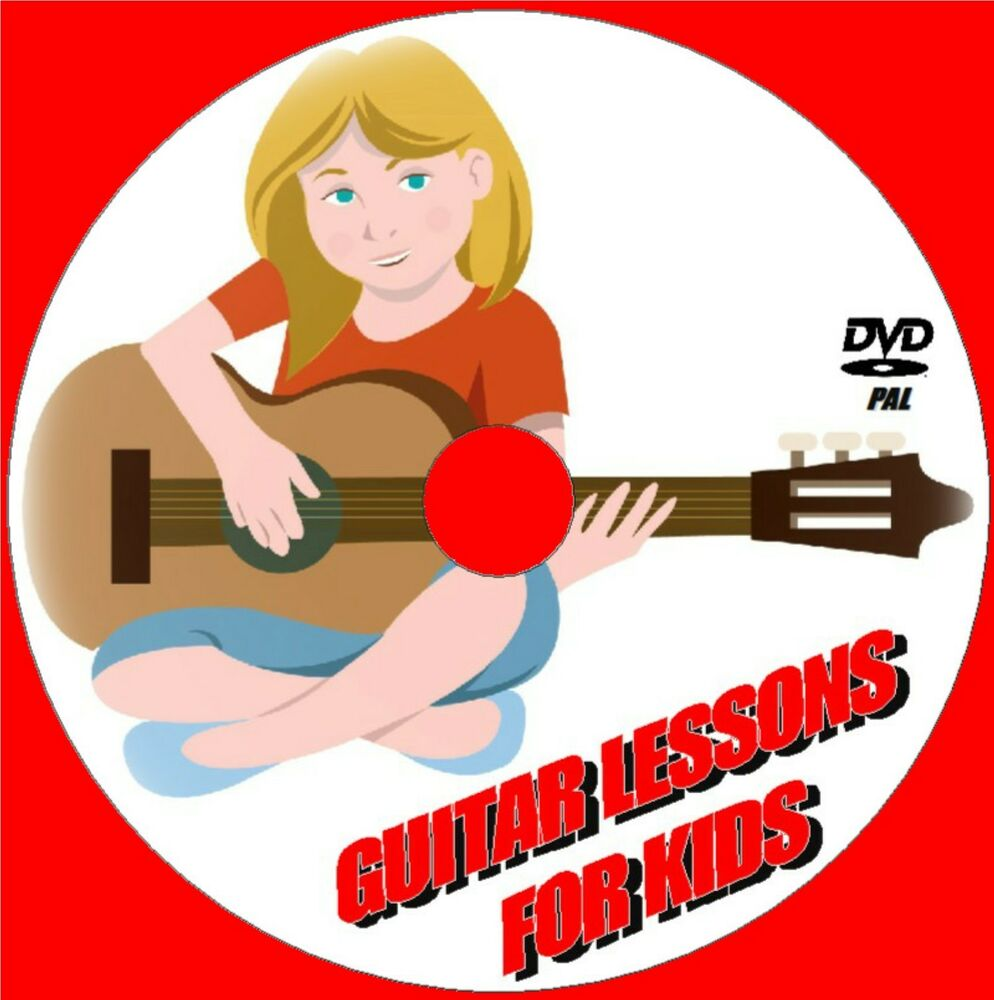 learn to play guitar for kids simple step by step guitar tuition video dvd new ebay. Black Bedroom Furniture Sets. Home Design Ideas