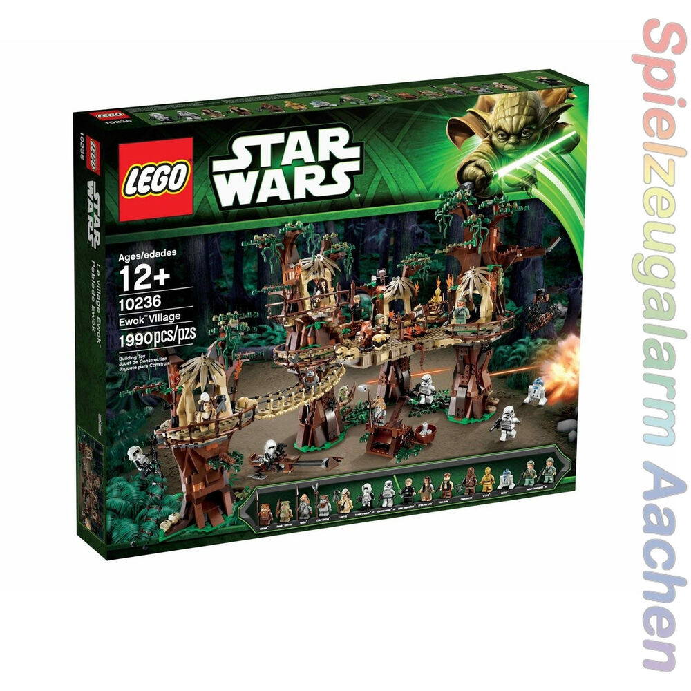 lego star wars 10236 ewok village 16 mifigs wald basis forrest station 1990pcs ebay. Black Bedroom Furniture Sets. Home Design Ideas