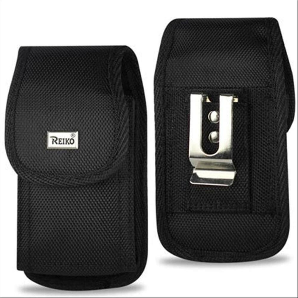 Black Reiko Nylon Pouch Case Cover Belt Clip loop Holster For Most ...