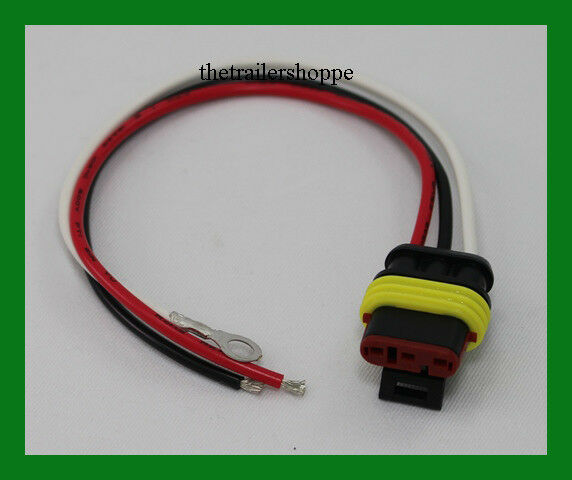 Replacement Plug 3 Wire Waterproof Sealed 3 Pin Pigtail