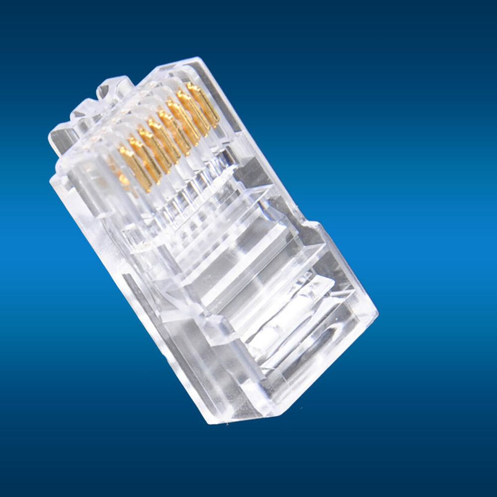 50pcs Rj45 Modular Utp Plug Network Connector Cat5 Cat5e