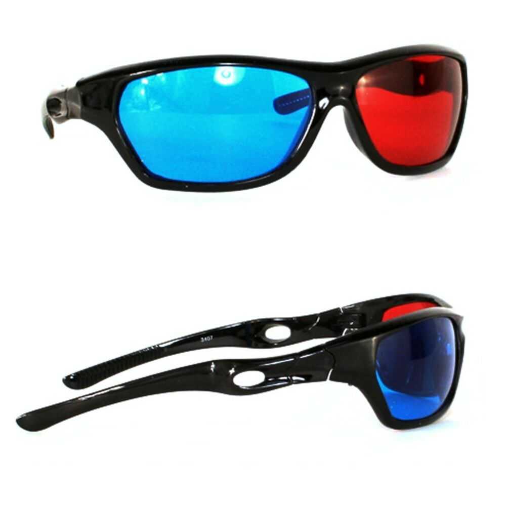 3D Glasses Anaglyph Glasses Red And Blue Lenses Wrap TV