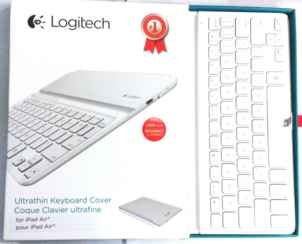 logitech wireless bluetooth ultrathin keyboard case cover for ipad air white ebay. Black Bedroom Furniture Sets. Home Design Ideas