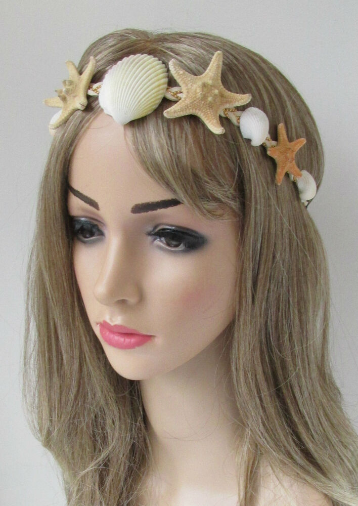 Real Starfish Amp Sea Shell Headband Mermaid Vintage Beach