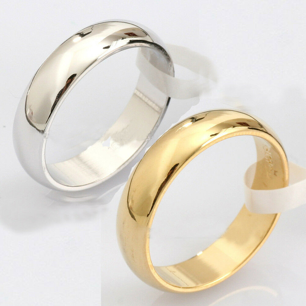 Sale! New Fashion Plain Silver Gold Stainless Steel Ring ...