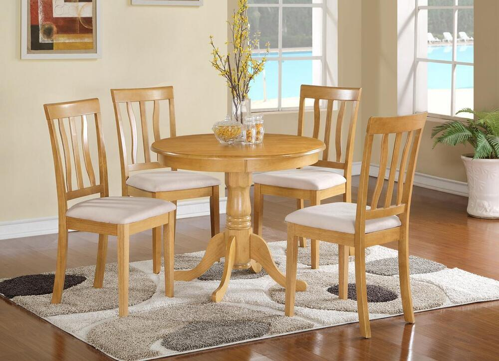 pc dinette kitchen dining table w 4 microfiber upholstered chair in