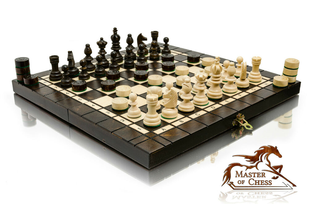 Superb Olympic Tournament Wooden Chess Set Draughts