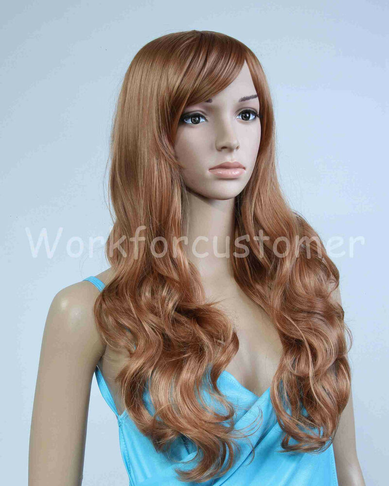 how to style slightly wavy hair new style fashion curly wavy wigs s hair 4787