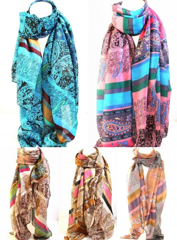 ethnic paisley print scarf scarves stole wrap shawl