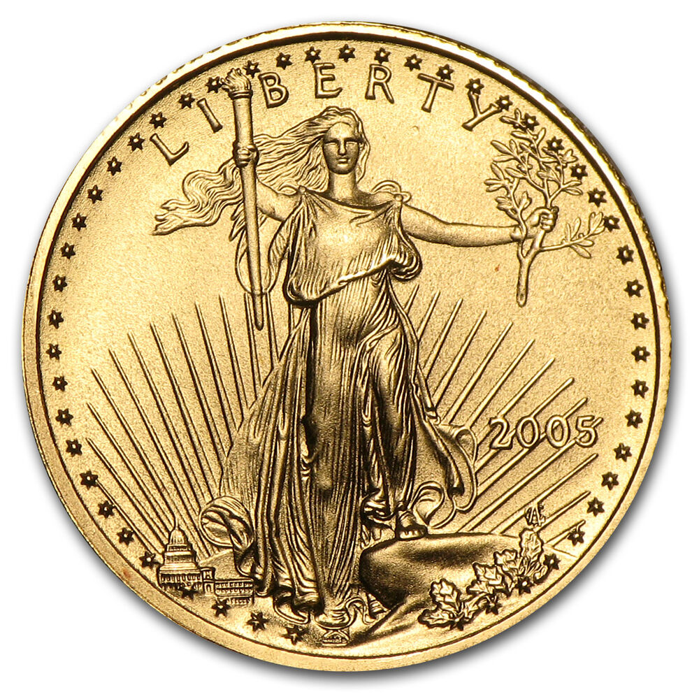 2005 1 10 Oz Gold American Eagle Coin Ebay