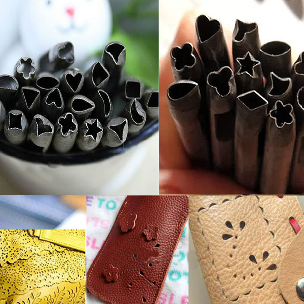 Leather working punches craft leather craft making tool for Leather shapes for crafts