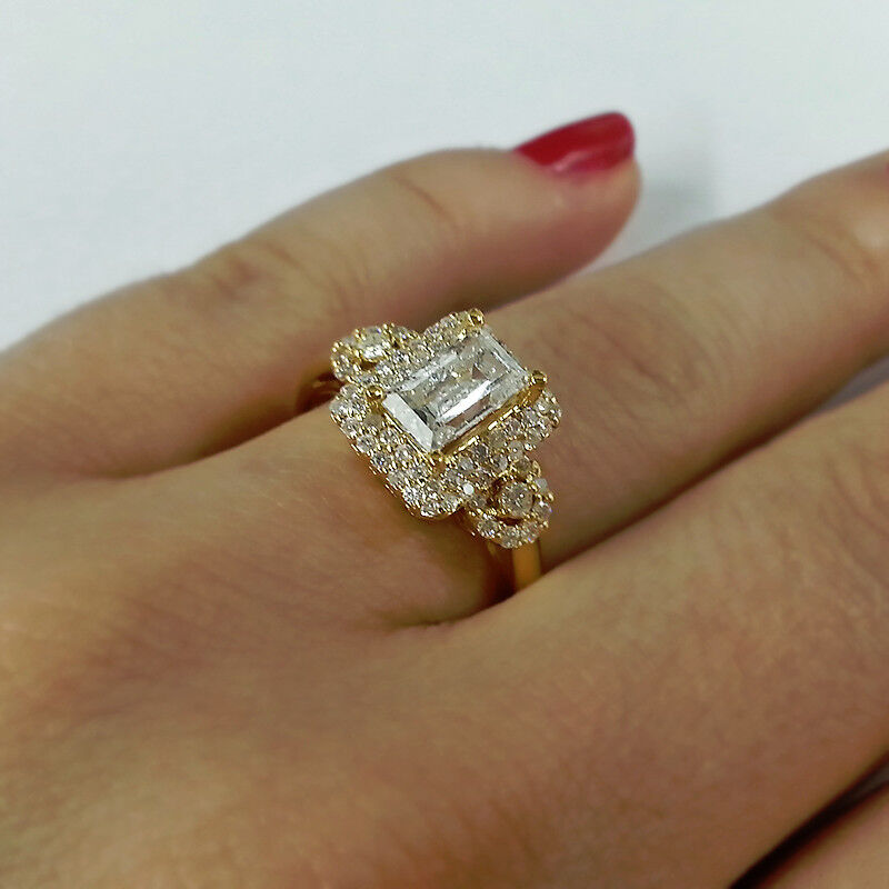 Big Estate Real Diamond Rings On Ebay
