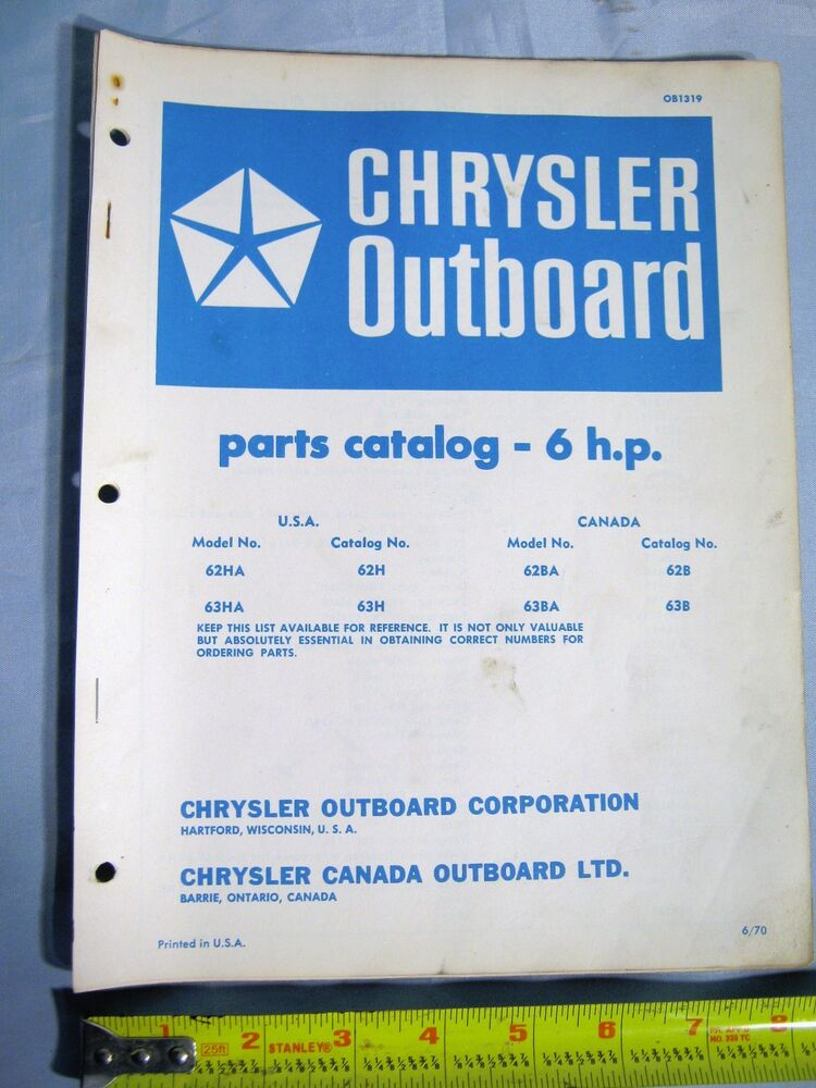1970 chrysler marine 6 hp models outboard boat motor parts for Outboard motor parts online