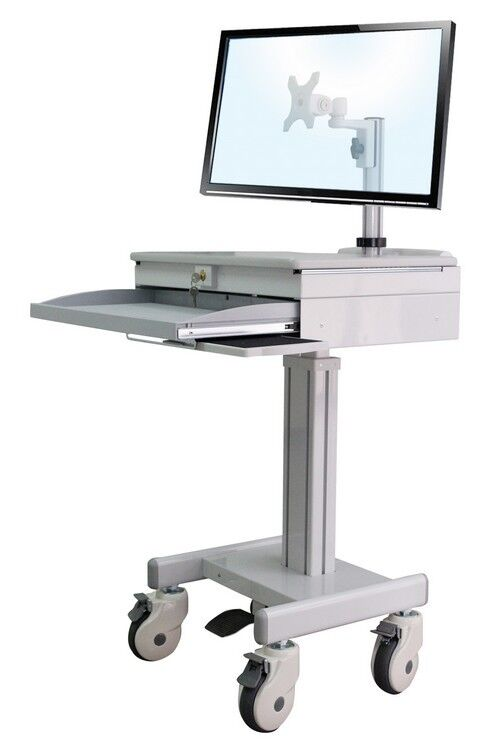 Cuzzi D Med1 Medical Computer Cart Height Adjustable