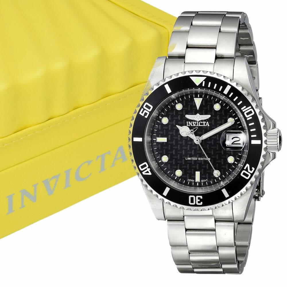 invicta men 39 s ile8926oba pro diver grey dial automatic stainless steel watch ebay. Black Bedroom Furniture Sets. Home Design Ideas