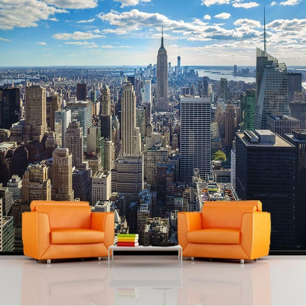 giant photo wallpaper new york sunrise scenery landscape wall mural x ebay. Black Bedroom Furniture Sets. Home Design Ideas