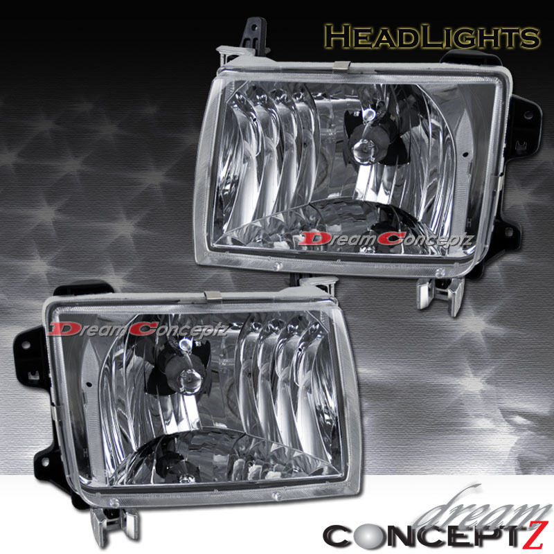 euro clear chrome style headlights for 1998 2000 frontier. Black Bedroom Furniture Sets. Home Design Ideas