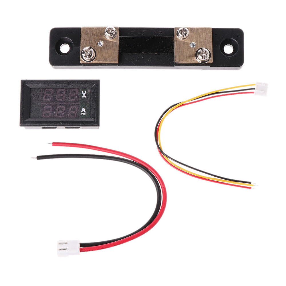 Digital Volt Meter : Led digital voltmeter ammeter amp volt meter current