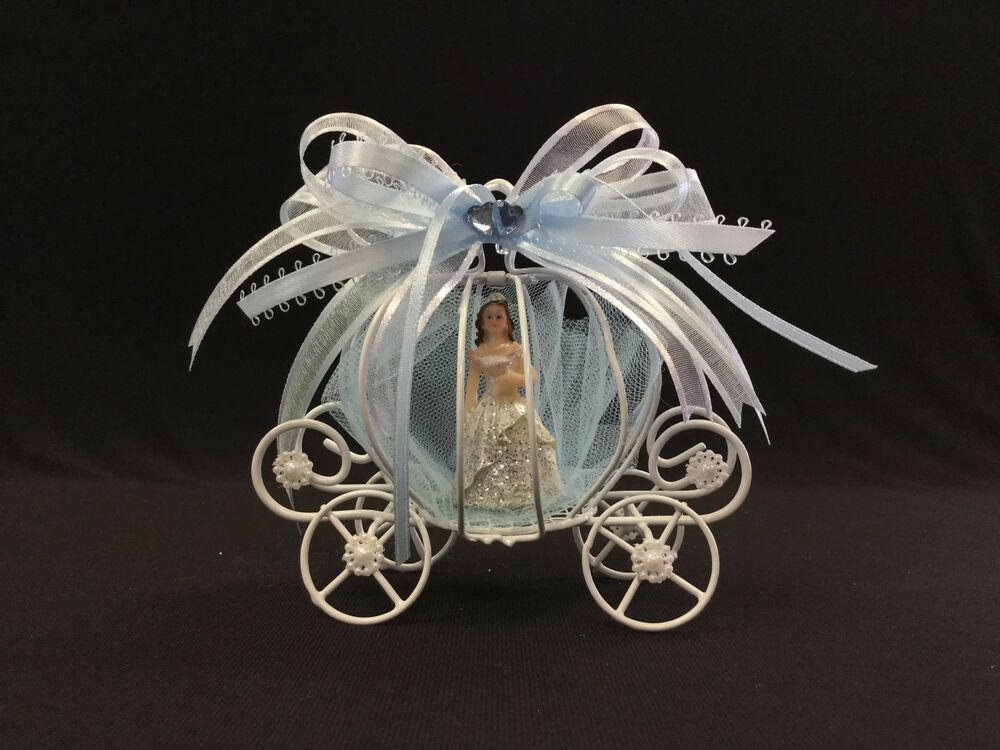 Iron Quinceanera Cinderella Carriage Cake Topper